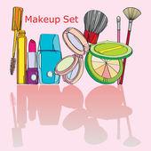Multicolored cosmetics — Wektor stockowy