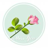 Card with rose — Stock Vector