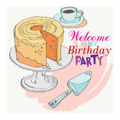 Welcome to the party for my birthday — Cтоковый вектор