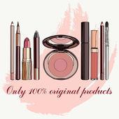 Set of cosmetics — Stock Vector