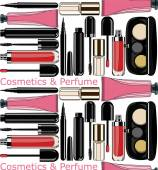 Cosmetics and perfume. seamless pattern — Stockvektor