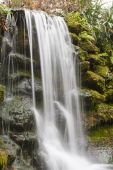 Misty Falls in the Wilderness — Stock Photo