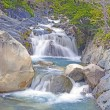 Постер, плакат: Mountain Stream in the Patagonian Andes