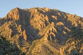 Evening Shadows in the Desert Peaks — Stock Photo