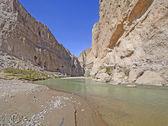 Desert River Entering a Remote Canyon — Stock Photo