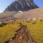 Alpine Stream Below a Isolated Peak — Stock Photo #73394113