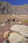 Colorful Rocks Below a Mountain Ridge — Stock Photo