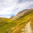 Trail into an Alpine Valley in Fall — Stock Photo #74377615
