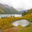 Foggy Day Fall Day on an Alpine Lake — Stock Photo #75796131