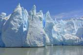 Dramatic Ice Formations at the Toe of a Glacier — Stock Photo