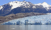 Alpine Glacier Coming Down from the Mountians — Stock Photo