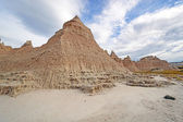Badlands Escarpments Against Changing Skies — Stock Photo