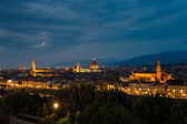 Night panorama of Florence. View ot top. — ストック写真