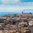 Siena. Image of ancient Italy city, view from the top. Beautiful house and chapel. — Stock Photo #60674521