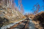 Spring on Circum-Baikal Road to the south of Lake Baikal — Stock Photo