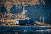 Spring Listvtanka city on Baykal lake — Stock Photo