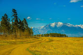 Beautiful spring landscape of the Western Sayan mountains — Stock Photo
