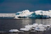 Day at Baikal Lake. Spring floating of ice  — Stock Photo