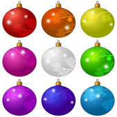 Set of Christmas decorations — Stock Vector