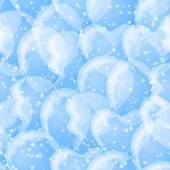 Balloon seamless background, white and blue — Stock Photo