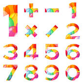 Numbers set, colorful balloons — Stock Photo