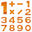 Numbers set, orange lava — Stock Photo #56233359