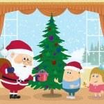 Santa Claus giving presents — Stock Photo #56239823