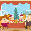 Family at home celebrating Christmas — Stock Photo #56462177