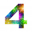 Number of colorful firework, four — Stock Photo #56704433