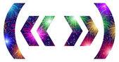 Set of punctuation signs, firework — Stockvektor