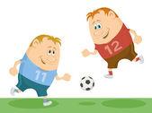 Voetbalspelers-voetbal — Stockvector