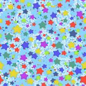 Seamless pattern, stars and snowflakes — Vecteur