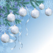 Christmas background with branches and balls — Stock Photo #53226585