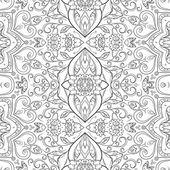 无缝轮廓花卉图案 — 图库矢量图片
