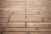 Brown wooden floor perspective. Background photo texture — Stockfoto