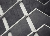 Abstract modern architecture background, concrete floors — Stok fotoğraf