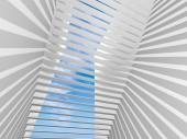 抽象的な 3 d インテリア白地で影パターン — ストック写真