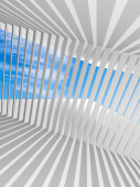 Abstract white vertical 3d interior background with shadows pattern — Stock Photo