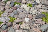 Old gray stone pavement background photo texture — Stock Photo