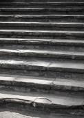 Vertical photo of dark stone stairway goes up — Stok fotoğraf