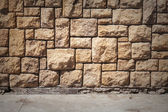 Abstract urban interior with tiling on the wall and asphalt road — Stock Photo