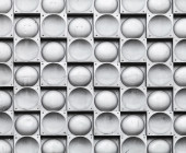 Abstract background texture, gray wall with steel tiling pattern — Stock Photo