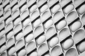 Abstract background texture, gray metal wall with tiling pattern — Stock Photo