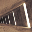 Abstract concrete 3d interior perspective with light stripes — Stock Photo #53750607