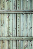 Old green wooden wall, background photo texture — ストック写真