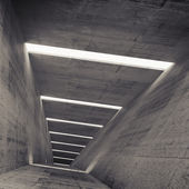 Abstract empty dark concrete tunnel interior, 3d background — Stockfoto