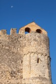 Stone castle on the rock in ancient Calafell town, Spain — Stock Photo