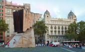 Placa de Catalunya with Francesc Macia monument, Barcelona — Stock Photo