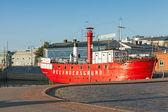 Historic red Relandersgrund Lightship in Helsinki, Finland — Stock Photo