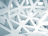 Abstract 3d background with chaotic white construction — Stock Photo